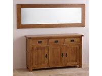 £75 - Solid Oak Wall Mirror