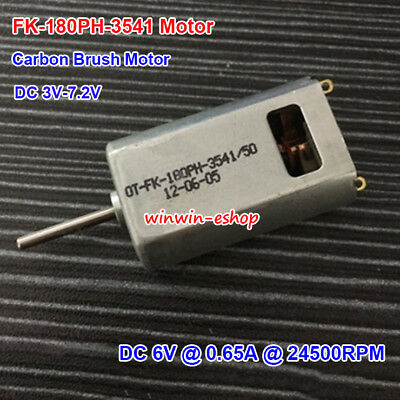 Micro 180 Motor Dc3v-7.2v 24500rpm Carbon Brush Fk-180ph-3541 Motor For Aircraft