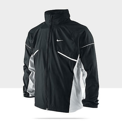 Nike Boy's Microfiber Black Zip-Up Long Sleeve Running Jacket S-XL 403902-011