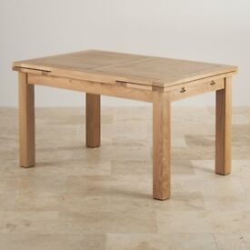 "Extending Dining Table in Natural Oak from Oak Furnitureland (Dorset 4ft 7"" x 3ft)"