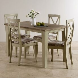 Dining Table with 4 Chairs - Solid Oak