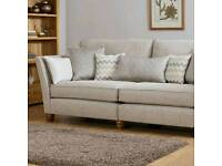 Stunning brand new still in packaging 4 seater sofa with cushions RRP £1599 oak furniture land