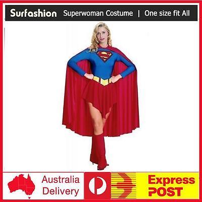 Superwoman Adult Costume (Adult Women Sexy Superwoman Supergirl Superhero Halloween Fancy Dress)