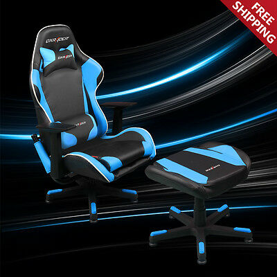 DXRacer Video Gaming Chair + Footstool Ottoman Playroom Chair TV Lounge Chair