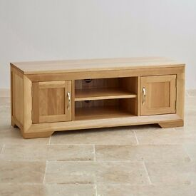solid oak sideboard and tv unit like new excellent condition