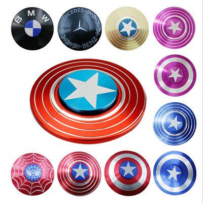 Captain America Fidget FINGER SPINNER Hand Focus Spin All Aluminum Alloy Metal