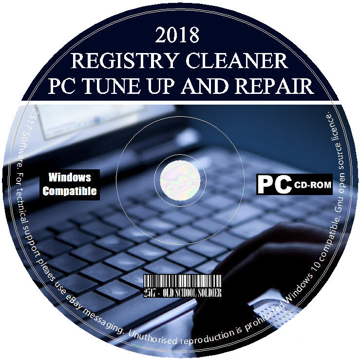 2018 Pro Registry Cleaner PC Tuneup Repair Errors Free Disk Space Virus Removal