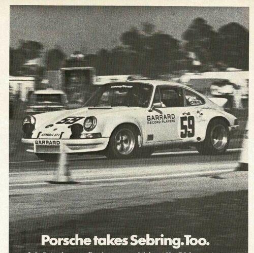 1973 CHAMPION spark plugs Porsche Wins IMSA Sebring 12 hours Vintage Print Ad
