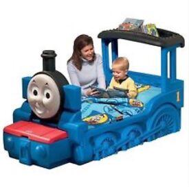 Thomas the tank shaped toddler bed