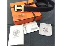 Hermes belt - with box and bag.