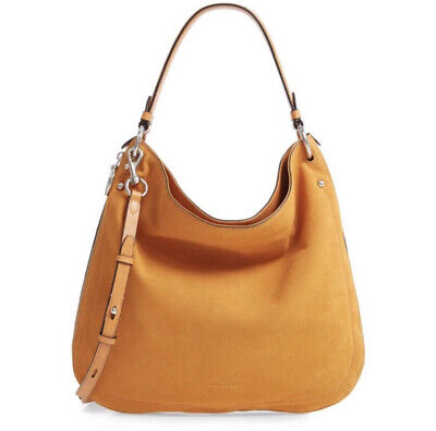 NWT Rebecca Minkoff Jody Convertible Suede Leather Hobo Bag Expand Glow - -