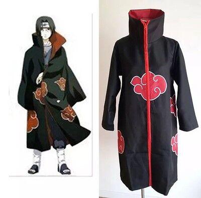 Naruto Costums (Naruto Akatsuki Itachi Uchiha Cosplay Costume Cloak XXL Size US)