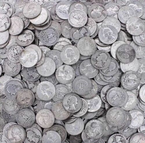 90% Silver Coin Lot, Pre 1965 Washington Quarters ,  Choose How Many!