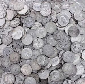 90% Silver Coin Lot, Pre 1965 Washington Quarters ,  Choose How Many!