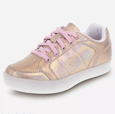 Gold Skateboard Schuh (Airwalk Kids' Jazz Low-Top Sneaker Skate Board Rose Gold Sz2)