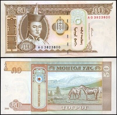 In vendita MONGOLIA 50 Tugrik, 2000, P-64, UNC World Currency