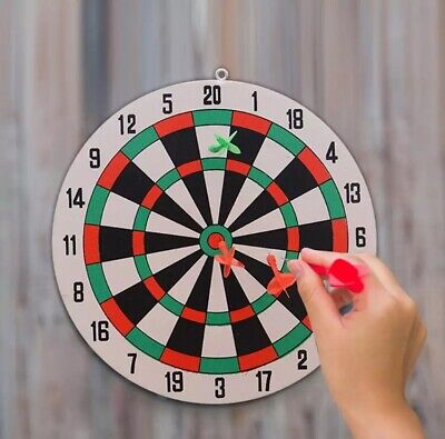 29.5CM Safety Dart Board Game Set Wall Hanging Dual Sides Available