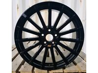 """NEW 18"""" FORD FOCUS RS STYLE ALLOY WHEELS X4 BOXED 5X108 MONDEO CONNECT SMAX CMAX ST"""