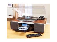 Neostar Electronics Vinyl Player CD Music, Radio, MP3 Player Recorder System