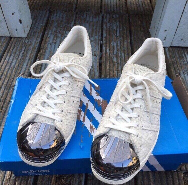 Adidas snakeskin metal toe trainers size 6
