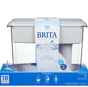 BRAND NEW Brita UltraMax Water Filter Dispenser, Grey, 18 Cup