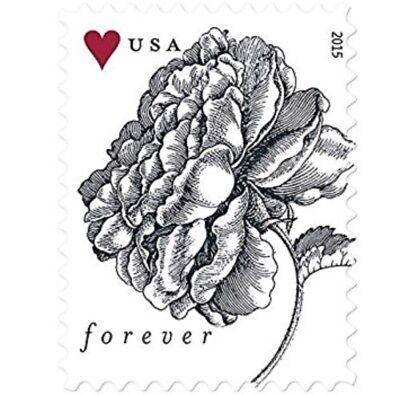 200 USPS Forever STAMPS - 2015 Vintage Rose STAMPS (10 Sheets of 20)
