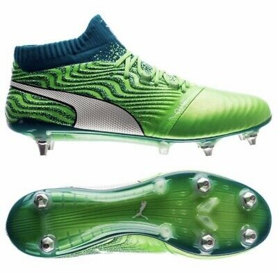 BNIB Puma One 18.1 Mx SG Green Deep Lagoon RRP £190 UK 9.5 Men's Football Boots