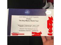 Drake ticket O2 Arena
