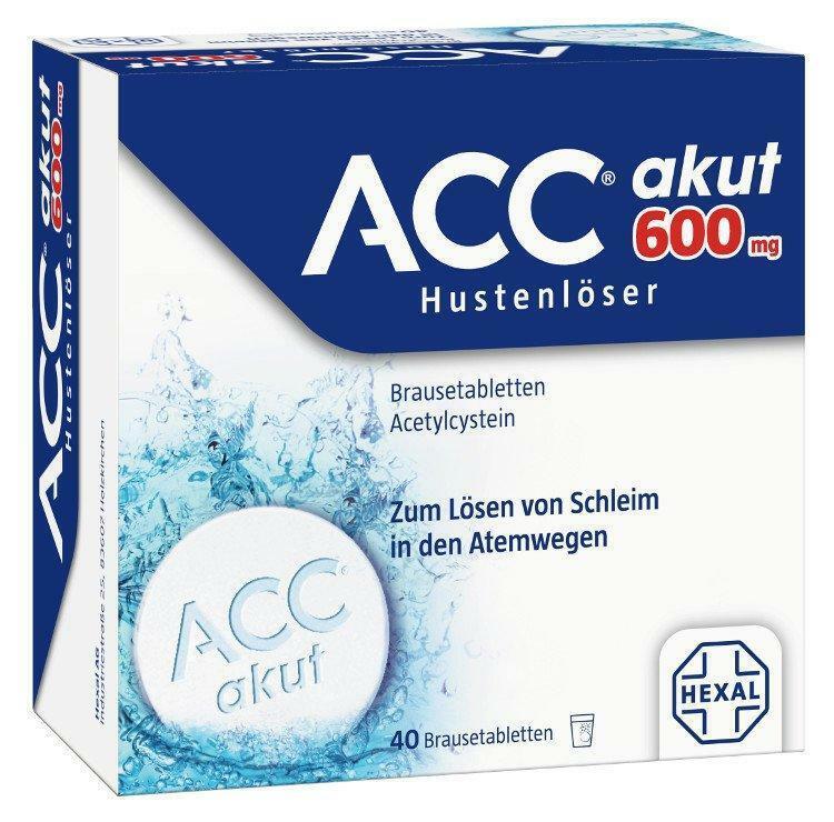 ACC akut 600 Hustenlöser Brausetabletten 40 St PZN: 0520917