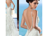 Celebrity inspired size 6 mermaid WHITE WEDDING DRESS offers accepted