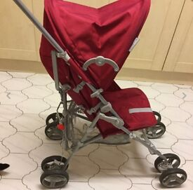 Push me 2 u red stroller