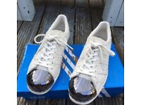Adidas snakeskin metal toe trainers size 6
