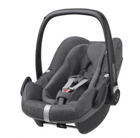 Maxi Cosi Pebble Plus sparkling grey car seat for sale.