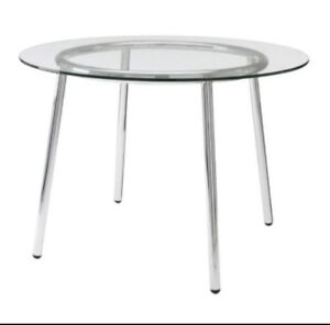 Tempered Glass Round Dining Table