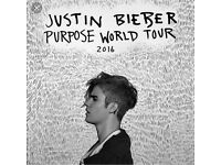 TWO JUSTIN BIEBER STANDING TICKETS FOR 24TH OCTOBER BIRMINGHAM