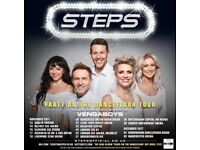 2 Tickets Steps & guests The Vengaboys Thursday 6th Dec SSE Hydro , Glasgow £100 pair