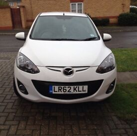 White Mazda 2 venture edition 62 plate. Mot and taxed