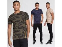 Wholesale men's T-Shirts zipped camo