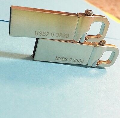 New 32GB 32G USB 2.0 Memory Stick Silver Hook USA SELLER!