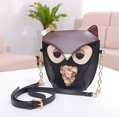 Owl Satchel Messenger Womens Shoulder Bag Girls Handbag CrossBody Purse