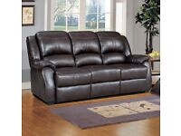 leather sofa black or brown FREE Delivery Anglo