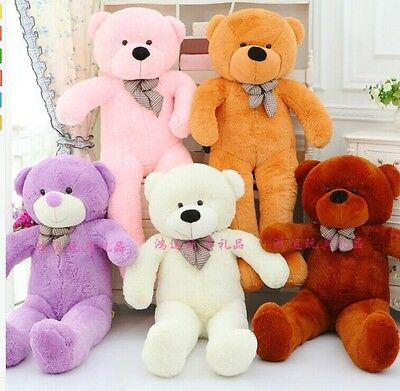 80/100/120cm/140CM Giant Big Cute Plush Stuffed Teddy Bear Soft 100% Cotton Toy