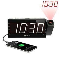 Upgraded Version Mesqool AM/FM Digital Dimmable Projection Alarm Clock Radio w
