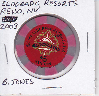 5 Casino Chip Eldorado Resorts  Reno  Nv 2003 B Jones Mold
