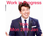 Michael McIntyre - 2 Tickets for £70 - York - TODAY - Mon 29th Jan