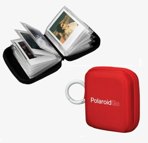 Polaroid Go Pocket Instant Film Photo Album with Metal Clip Black Red White -US