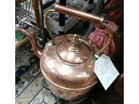 Victorian copper kettle. Bay