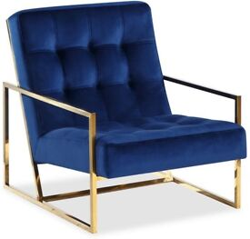 Liang & Eimil Nova Occasional Chair Polished Brass. 2 left