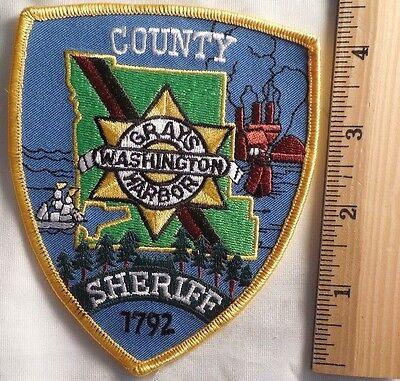 GRAYS HARBOR WASHINGTON COUNTY SHERIFF PATCH (FIRE, HIGHWAY PATROL)