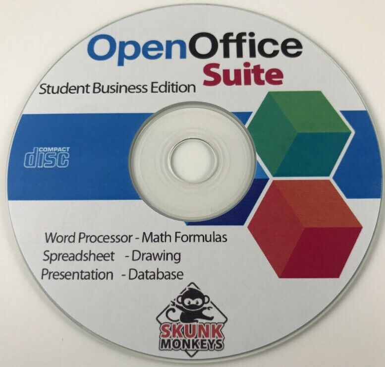 Open Office Software Home Student Draw PowerPoint Math Writer Excel Windows